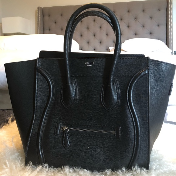 Celine Handbags - Céline Mini Luggage Pebbled Leather Tote c11624f9f58f7